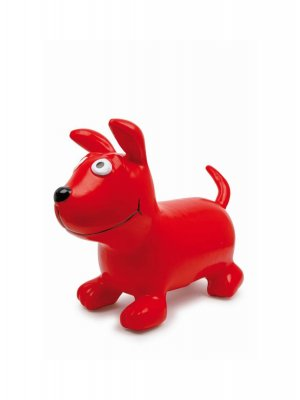 Dog hopper or ride on dog toy suitable for a toddler