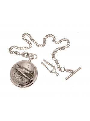Pocket Watches For Men Mechanical Pocket Watch Hurricane Fighter Pewter Fronted design 39