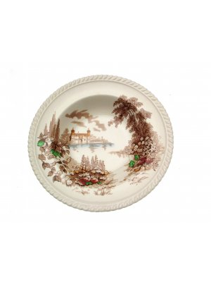 Johnson Brothers 9 inch shallow bowl - Castle on the Lake