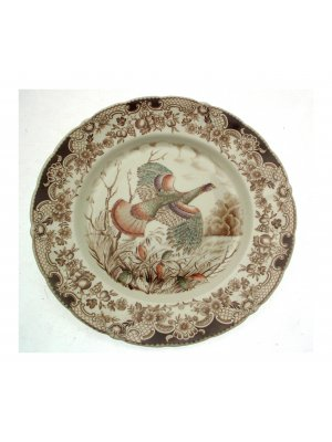Johnson Brothers 10.75 inch dinner plate - Wild Turkeys Native American