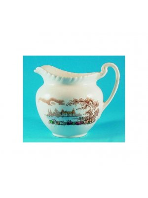 Johnson Brothers large jug - pattern is Castle on the Lake - chip to spout area
