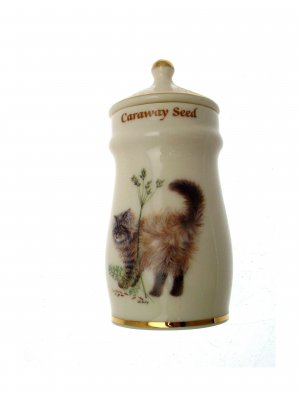 Lesley Anne Ivory Cats Spice Jar Caraway Seed GB371