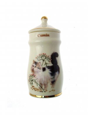 Lesley Anne Ivory Cats Spice Jar Cumin GB370