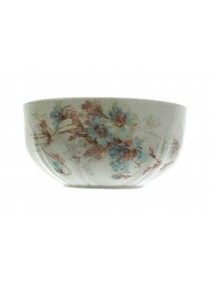 Limoges Stonier Blue Floral pattern 5.75 inch Sugar Bowl