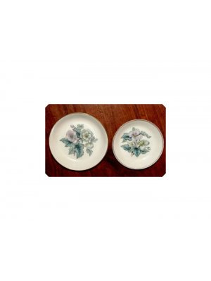 Pair Royal Worcester Pin Dishes Poss June Garland
