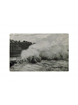 c1927 Storm at Blackpool The Advance Series Postcard