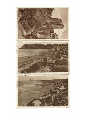 c1946 Set of Three Scarborough Photographic Postcards