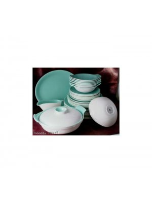 Poole C57 Ice Green Seagull 7.25 inch Soup Coupe and underplate