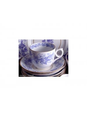 c1880 Staffordshire purple transfer fruiting vine Cup and Saucer