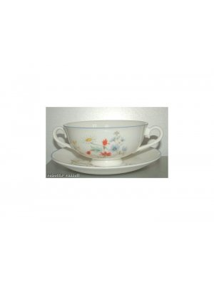 Royal Albert Summer Breeze Soup Coupe and Underplate