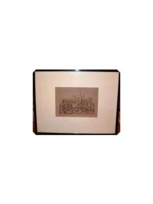 Framed Glazed Antique Sepia Print Chester Cathedral