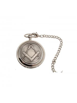 Pocket Watches For Men Mechanical Pocket Watch Masonic design 37 Pewter Fronted
