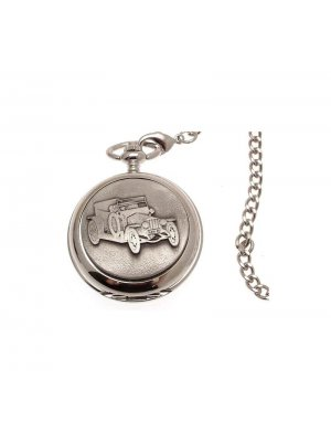Pocket Watches For Men Mechanical Pocket Watch Silver Ghost Rolls Royce design Pewter Fronted 41