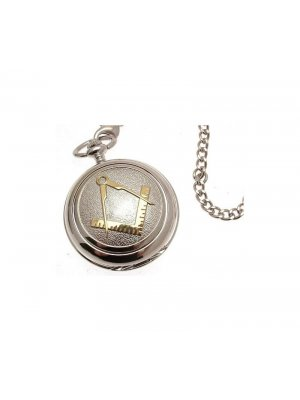 Pocket Watches For Men Mechanical Pocket Watch Two tone Masonic Pewter Fronted 38