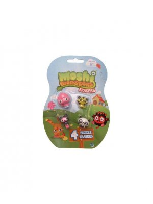 Moshi Monsters Rubbers or Moshi Monsters Erasers puzzle erasers Poppet, Jeepers, Sooki-Yaki and ShiShi Moshlings