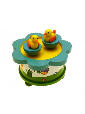 Wooden Music Box Kids Music Box Childrens Music Box Duck Design