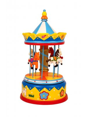 Music Box Carousel Toy Carousel horse musical box Kids Music Box 28 cms