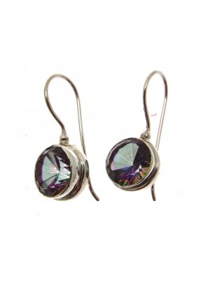 Mystic Topaz Earrings Mystic Topaz Stone Drop Earrings 925 Silver CH91