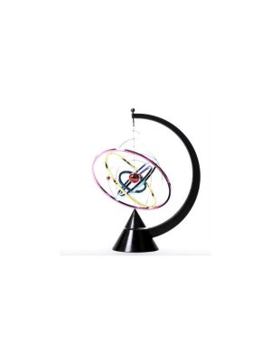 Orbit Kinetic Model - desktop mobile - battery operated moving desktop sculpture