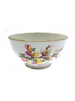 Roslyn R248 Floral Pattern Sugar Bowl 4.75 inches in diameter