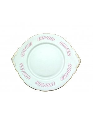 Royal Stafford Lyric cake plate 9.5 inch with tab handles