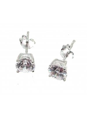 Cubic Zirconia Earrings CZ Jewellery Cubic Zirconia Stud Earrings Silver Stud Earrings 4 mms SCJ137