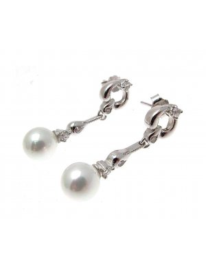 Wedding Earrings Bridal Earrings Pearl Drop Earrings Drop Pearl Earrings Single Pearl Earrings SCJ140