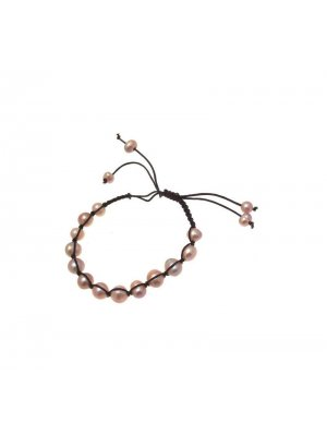 Beaded Bracelet Macrame bracelet with fresh water pearl beads design 114230