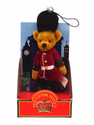 Teddy bear mobile phone charm bag charm London souvenir Bearskin