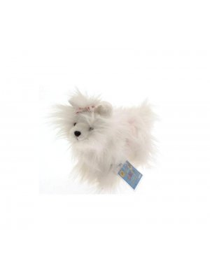 Webkinz White Yorkie dog soft toy - adopt a dog and log on to Webkinz world