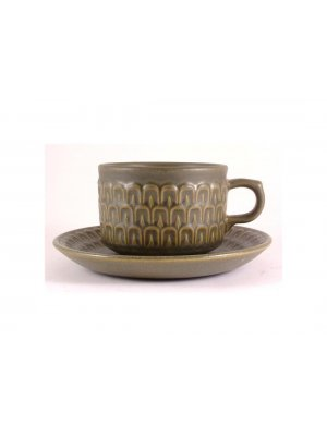 Wedgwood Cambrian Green cup and saucer