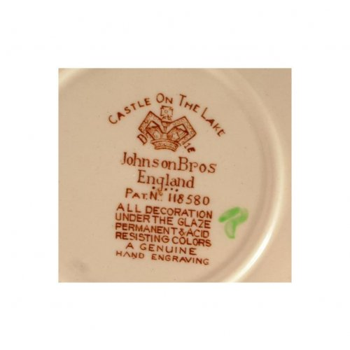 Johnson Brothers 9 inch plate - Castle on the Lake