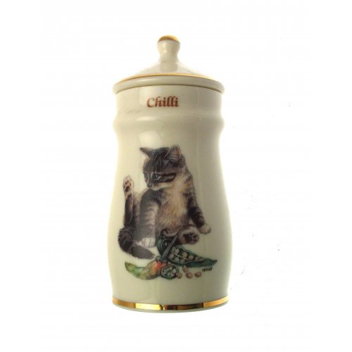 Lesley Anne Ivory Cats Spice Jar Chilli GB382