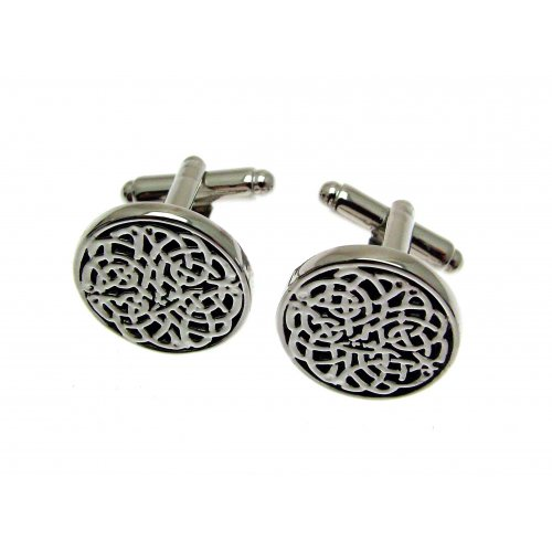 Mens Jewellery Pewter Cufflinks In A Presentation Box