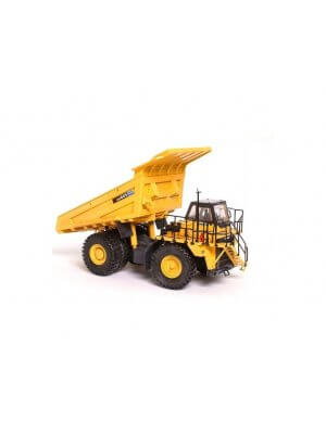 Exact 1:50 scale die cast and plastic collectable model of a Komatsu HD605 rigid dump truck