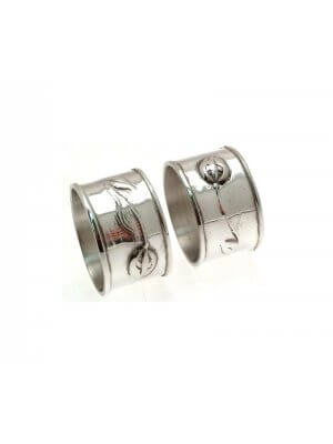 Pewter napkin rings - set of 2 - Liberty style design - Comes boxed