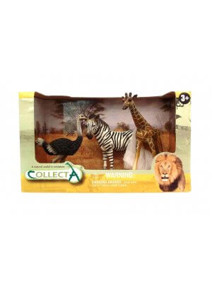 Plastic Wild Animals Toy Plastic Animals zebra, giraffe and ostritch