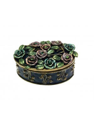 Jewellery Boxes For Women Small Jewellery Box Enamel Jewellery Boxes Blue