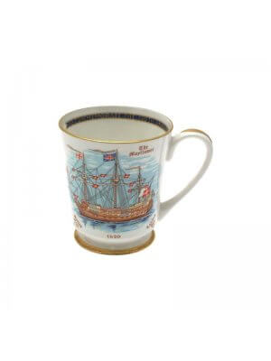 Aynsley 350th Anniversary of the sailing of the Pilgrim Fathers The Mayflower mug
