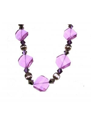 Beaded Necklace Necklaces For Women Glass Necklace Purple Necklace INV017