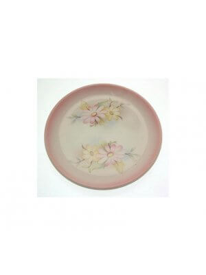 Pretty James Kent Old Foley coaster - pink and yellow flower design - CLT483