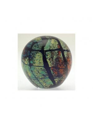 Previously owned universal design glass paperweight - possibly Mdina - CLT489