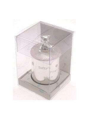 Silver plated Christening Gift Babys First Bank - Christening Money box for a girl