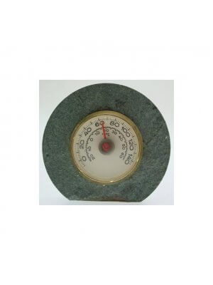 Granite mounted thermometer approximately 8cms across CLT282