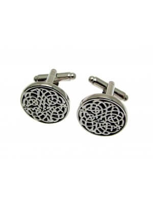 Mens Jewellery Pewter cufflinks in a presentation box - Celtic design