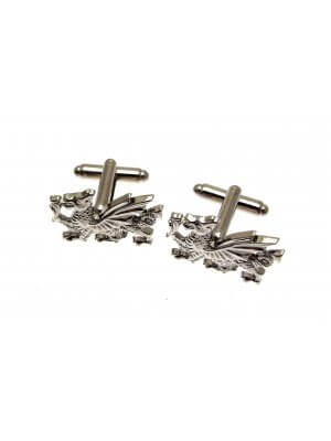 Mens Jewellery - Pewter cufflinks in a wooden presentation box AEW3829000 - Welsh Dragon design