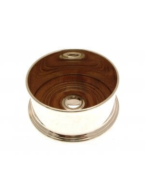 "Silver Plated Hand Made 3.5"" 9cm Wine Coaster for Standard Wine Bottle"